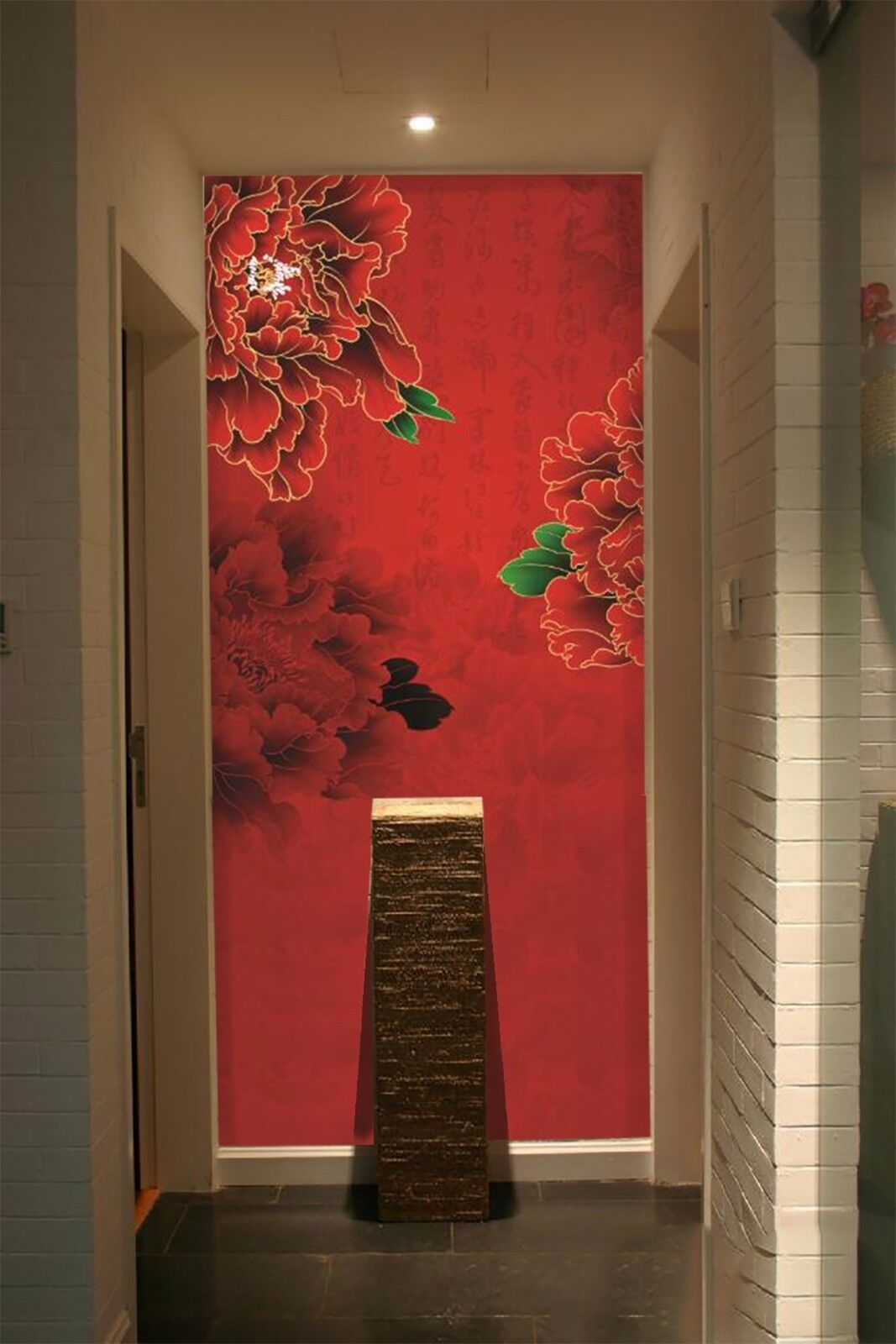 3D rot peony 3423 Wall Paper Wall Print Decal Wall Deco Indoor Wall Murals