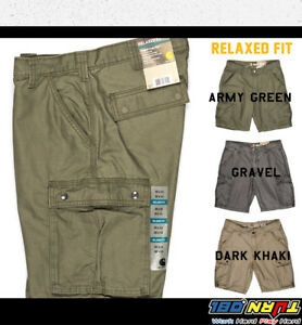 9bb027a18d Image is loading CARHARTT-Mens-11-034-Rugged-Cargo-Shorts-Relaxed-