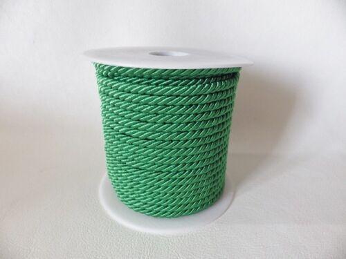 5 metres x 4mm Barley Twist Rope Cord Trimming Braid Piping Poly Viscose 11 cols