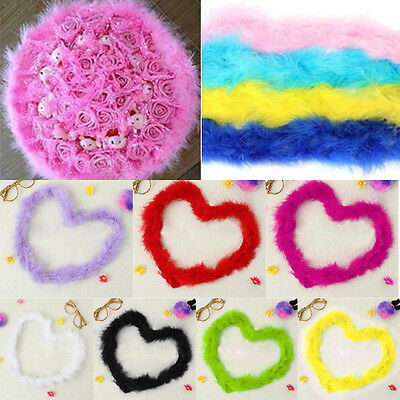 1pc Special 2M Marabou Feather Boa For Hat Fancy Dress Burlesque Party Cosplay
