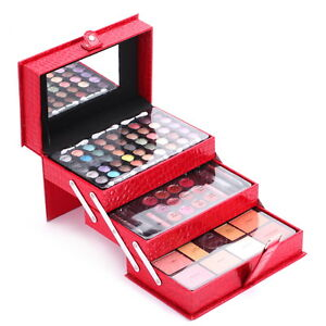 Professional-Mixed-Beauty-Makeup-Kit-Cosmetic-Case-Brushes-Set-Eyeshadow-Palette