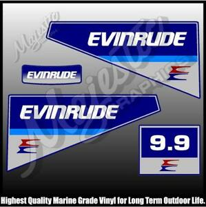 1980 Evinrude 9.9hp Outboard Decal Kit