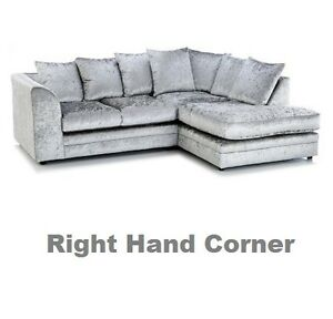 Image Is Loading Dylano Chicago Right Hand Corner Sofa Suite Crushed