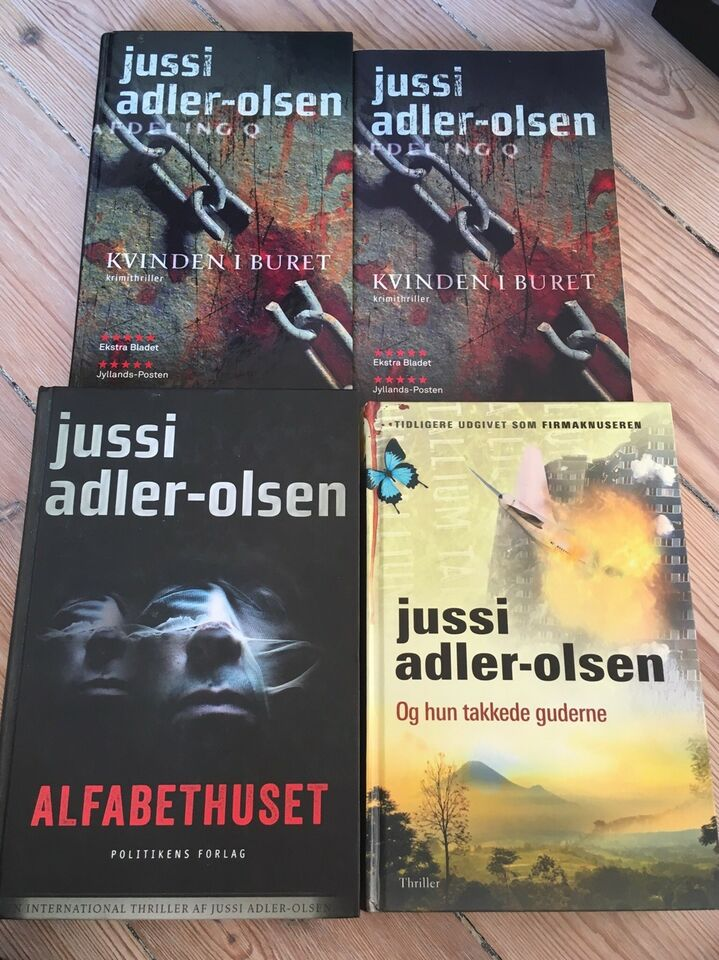 Tre titler, Jussi Adler-Olsen, genre: krimi og spænding