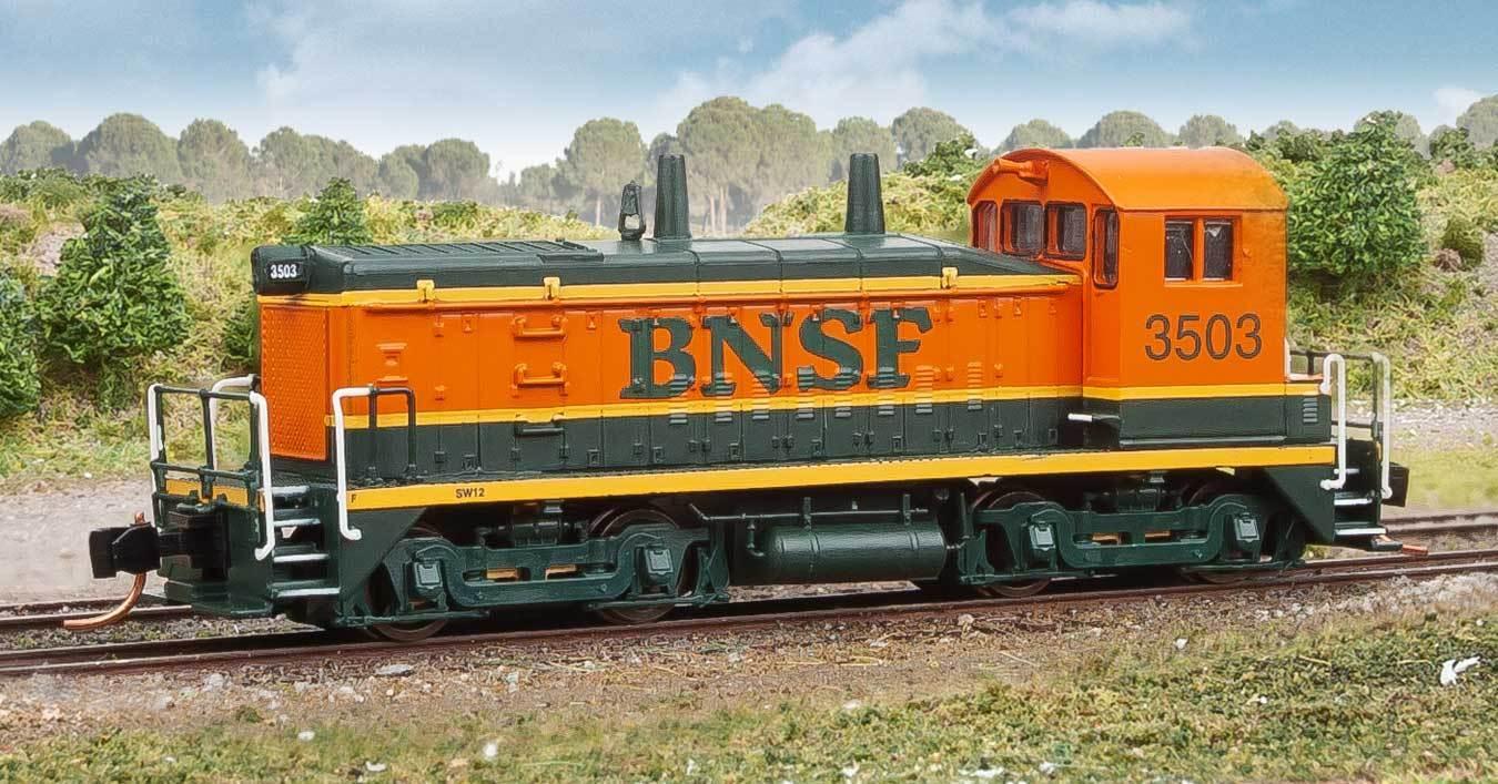Scala N - Locomotiva Locomotiva Locomotiva diesel EMD SW1200 BURLINGTON NORTHERN SANTA FE BNSF 50103 7311c5