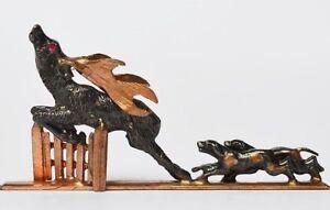 Dynamisch Miniatur Goldschmiedearbeit Unikat 1870-90 Silber Kupfer Vergoldet Rubin L.4,6cm Eine Lange Historische Stellung Haben Uhren & Schmuck Antiquitäten & Kunst