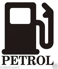 BLACK PETROL  Sticker for car FUEL LID. ALL CARS ANY MAKE- 1 PIECE