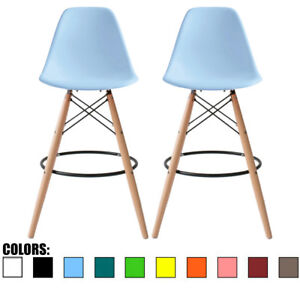 Image Is Loading Set Of 2 Modern Contemporary Counter Height Stool