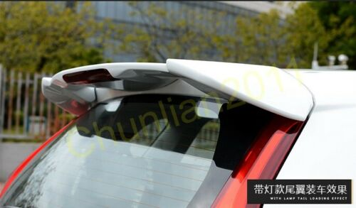 Rear Factory Style Wing Spoiler for 14-17 Honda Fit Jazz Hatchback GK5 RS LED