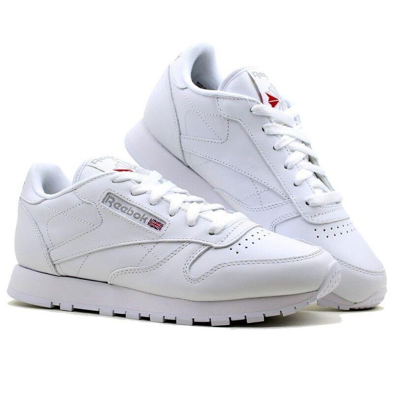 Reebok CLASSIC LEATHER 2232 Donna Bambini Scarpe Sportive scarpe da ginnastica Classic Bianco bianca