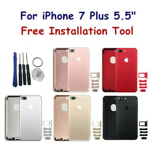 Back-Housing-Battery-Cover-Middle-Frame-amp-Sim-Card-Tray-For-iPhone-7-Plus-5-5