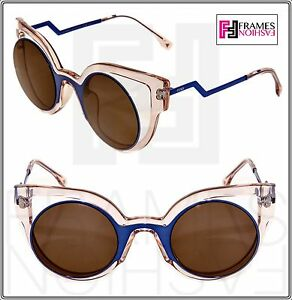 2bf649f37124 Image is loading FENDI-PARADEYES-FF0137S-Pink-Blue-Bronze-Mirrored-Opaque-