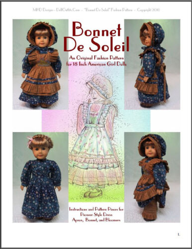 """Bonnet De Soleil"" Fashion Pattern for American Girls"