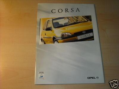 10665) Opel Corsa B France Prospekt 1998 100% Garantie