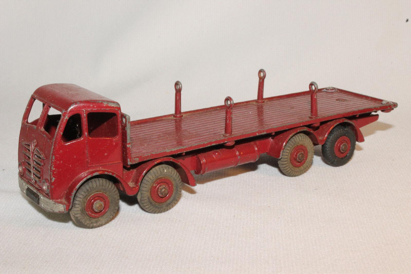 1950's Dinky_FodenTruck con Chains, Maroon rosso, Originale