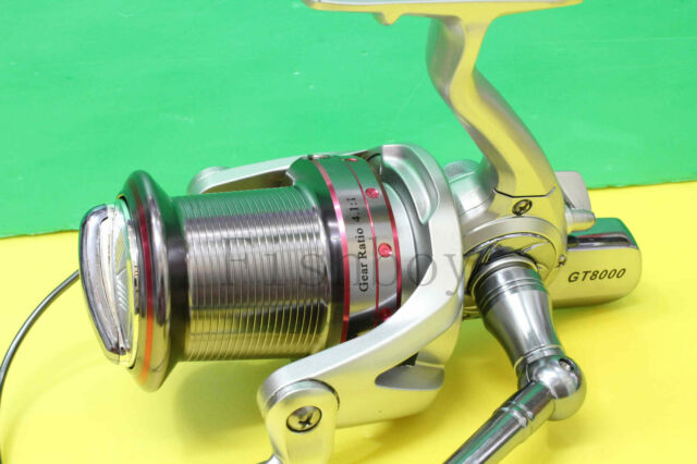 GT8000 Spinning Fishing Reel Aluminium Spool 14 Ball Bearings Front Drag Surfing