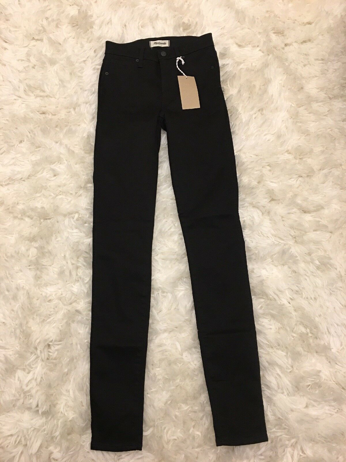 New Madewell Taller 10  High-Rise Skinny Jeans in Carbondale Wash Sz 24TL F9229