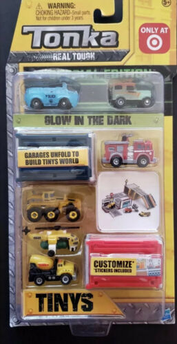 2 Pc Tonka Tinys Real Tough Target Exclusive Glows In The Dark Special Edition