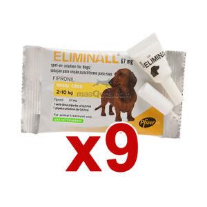 Logique 9 Pipetas Eliminall Antiparasitario Perros PequeÑos 2-10kg (genérico Frontline)