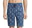 Psycho Bunny Men/'s Tidal Blue Bunny Print Woven Jammie Cotton Lounge Shorts