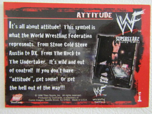 E5 WWF Wrestling Superstarz 1998 COMIC IMAGES DUOCARDS Carte variantes