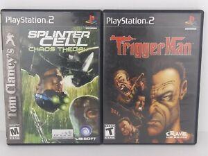 Lot of 2 PS2 SPLINTER CELL chaos theory / TRIGGERMAN PlayStation 2 Games