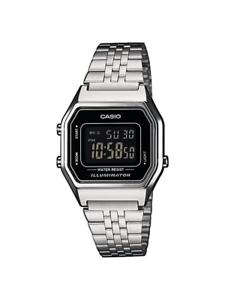 Casio-Uhr-LA680WEA-1BEF-Unisex-Armbanduhr-Digitaluhr-Silber-farben-Uhr-Watch-Neu