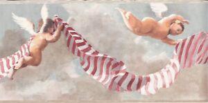 Wallpaper-Border-Baby-Cherubs-Angels-in-Clouds