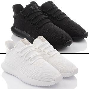 Scarpe NUOVO ADIDAS ORIGINALS TUBULAR OMBRA Sneakers Uomo Nero Scarpe da corsa