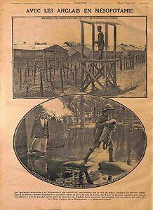 """Mesopotamia Mésopotamie Soldiers British Army Flood Tigris River Kut WWI 1916 - France - Commentaires du vendeur : """"OCCASION"""" - France"""