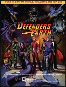 DEFENDERS OF THE EARTH__Orig. 1986 Trade print AD_TV promo_Flash Gordon_Mandrake