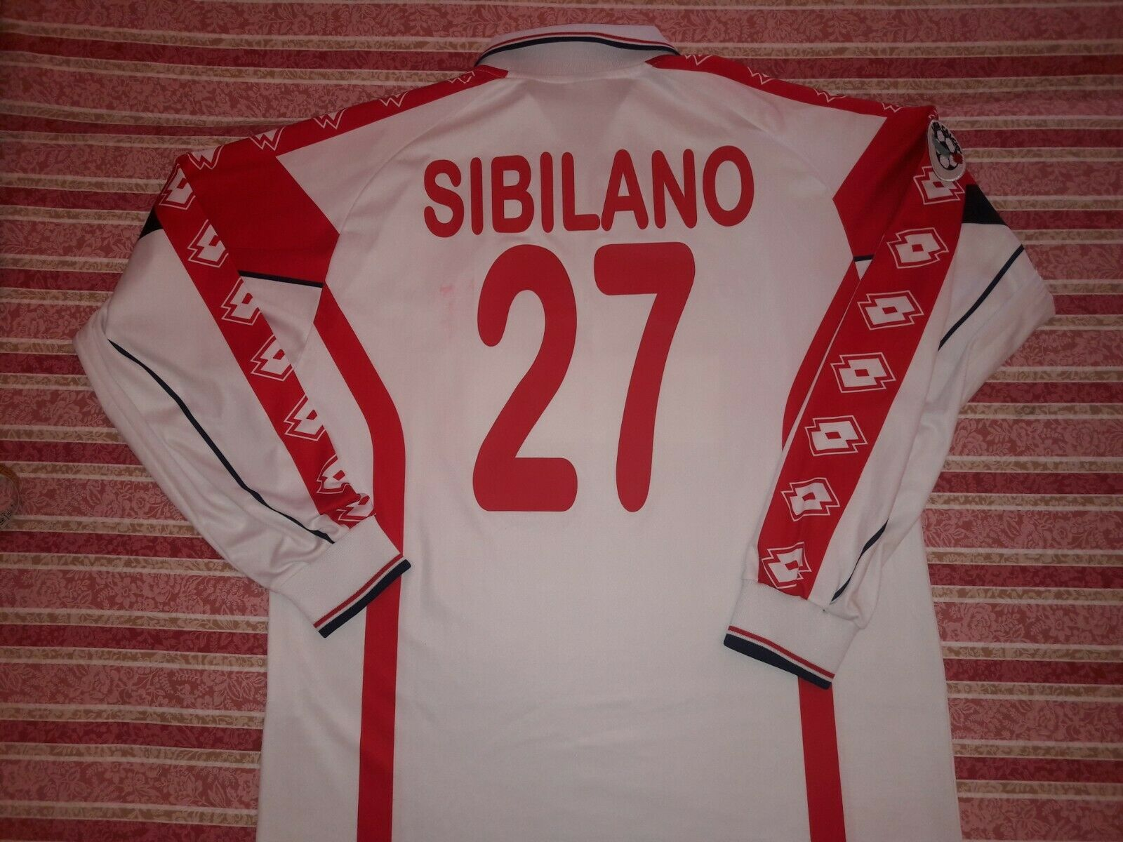 Maglia BARI 2000 2001 SIBILANO INDOSSATA  AS BARI MATCH WORN SHIRT by SIBILANO