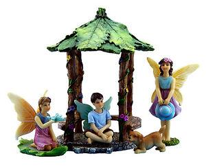 Fairy-Garden-Accessories-Ornaments-Miniature-Fairies-amp-Gazebo-by-Pretmanns