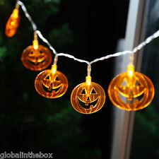 10LED String Lights Pumpkin Lantern Lamp Halloween Party Room Home Decoration