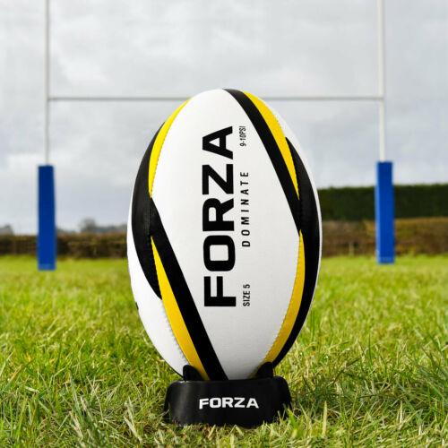 FORZA Dominate Match Ball Rugby Ball - IRB Spec - Laminated Outer Panels