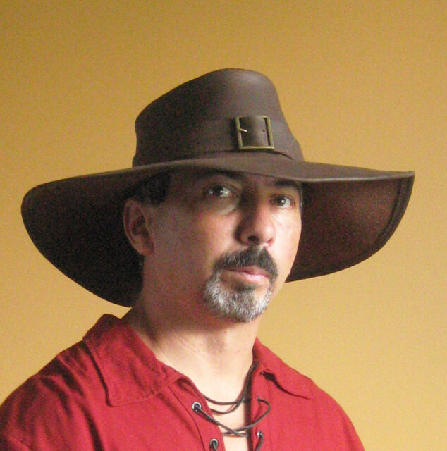 Medieval Celtic Renaissance SCA Larp Leather Freebooter Privateer Hat
