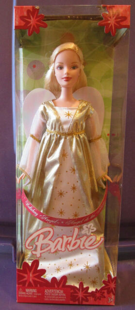 Barbie Holiday Angel, with shimmery wings, 2005, # G5322, Mattel, NRFB