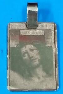 Colgante-placa Con Cara De Cristo Serigrafiada De Oro De 18 Ktes. Peso 5,25 Gr. Kvgidyii-08000604-113772152