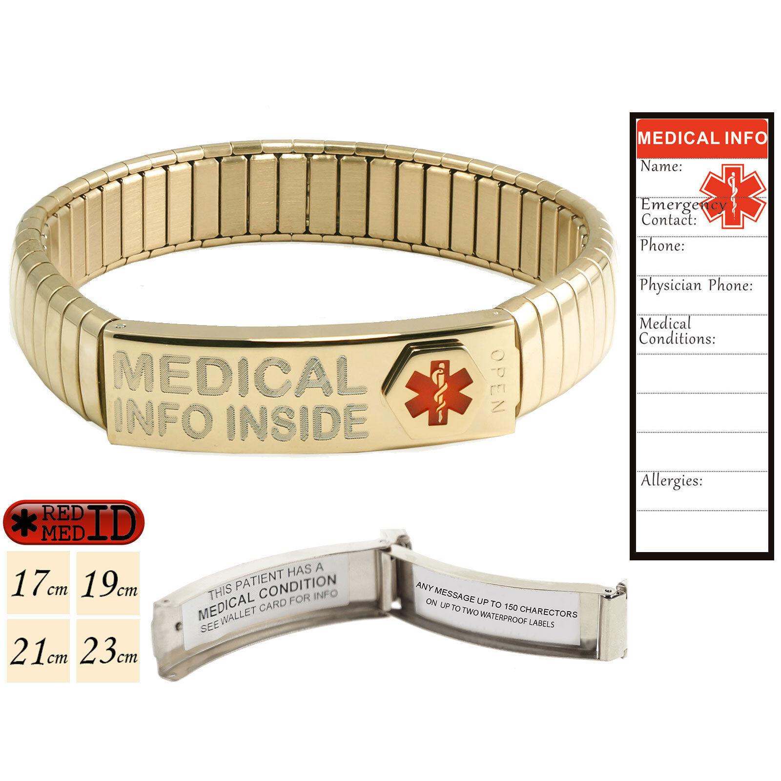 Or Rose Medical Alert ID Bracelet Extender ~ ajoute 1//2 pouces!