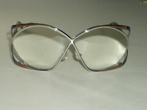 a2414e9cb2c9 Image is loading VINTAGE-LADIES-CHRISTIAN-DIOR-2050-CHROME-TORT-EYEGLASS-