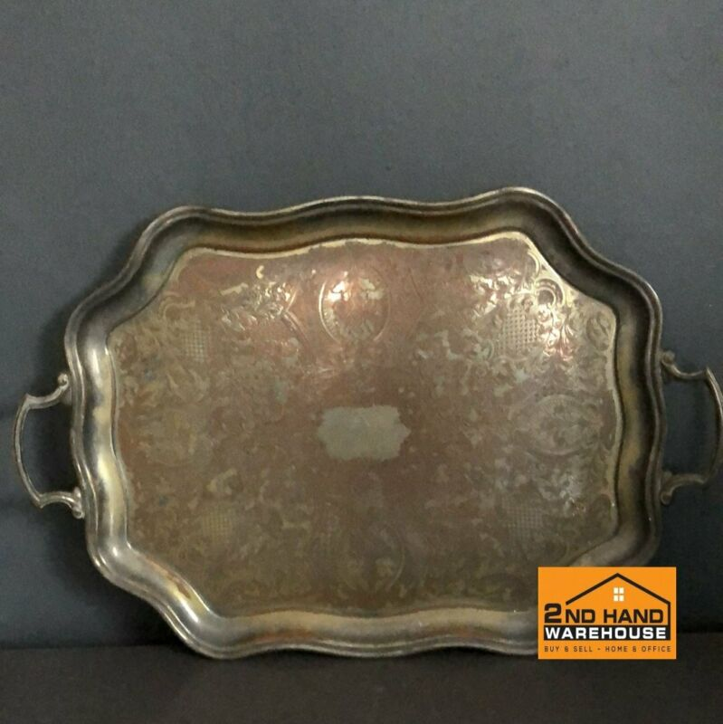 Carlton silver copper Tray with handles - A31850
