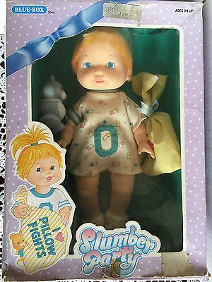 Puppen Objective Schlummer Party Blue Box Puppe Vintage New Bright In Colour Spielzeug