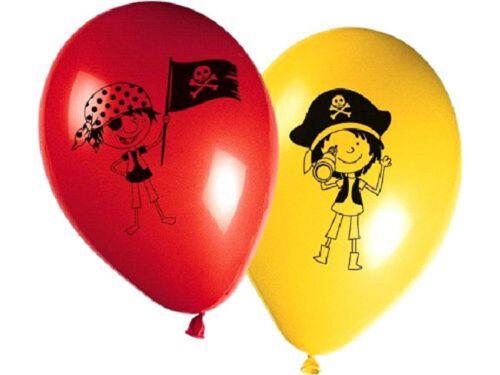 30 cm FOLAT 1009P 8 Stk. Geburtstag /& Party Kleine Piraten Luftballons