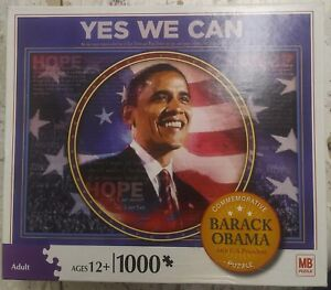 "BARACK OBAMA 1,000 PC. ""YES WE CAN"" JIGSAW PUZZLE 2008"