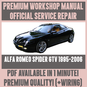 WORKSHOP MANUAL SERVICE REPAIR GUIDE For ALFA ROMEO SPIDER GTV - Alfa romeo spider workshop manual