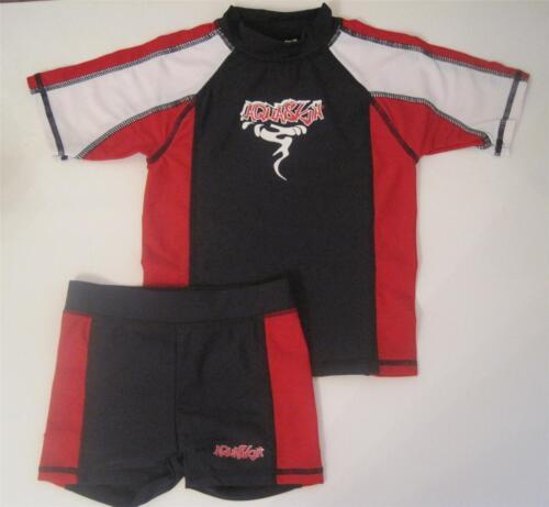 New boys uv swimsuit set swimwear shorts top age 2-3 3-4 4-5 5-6 6-7 years