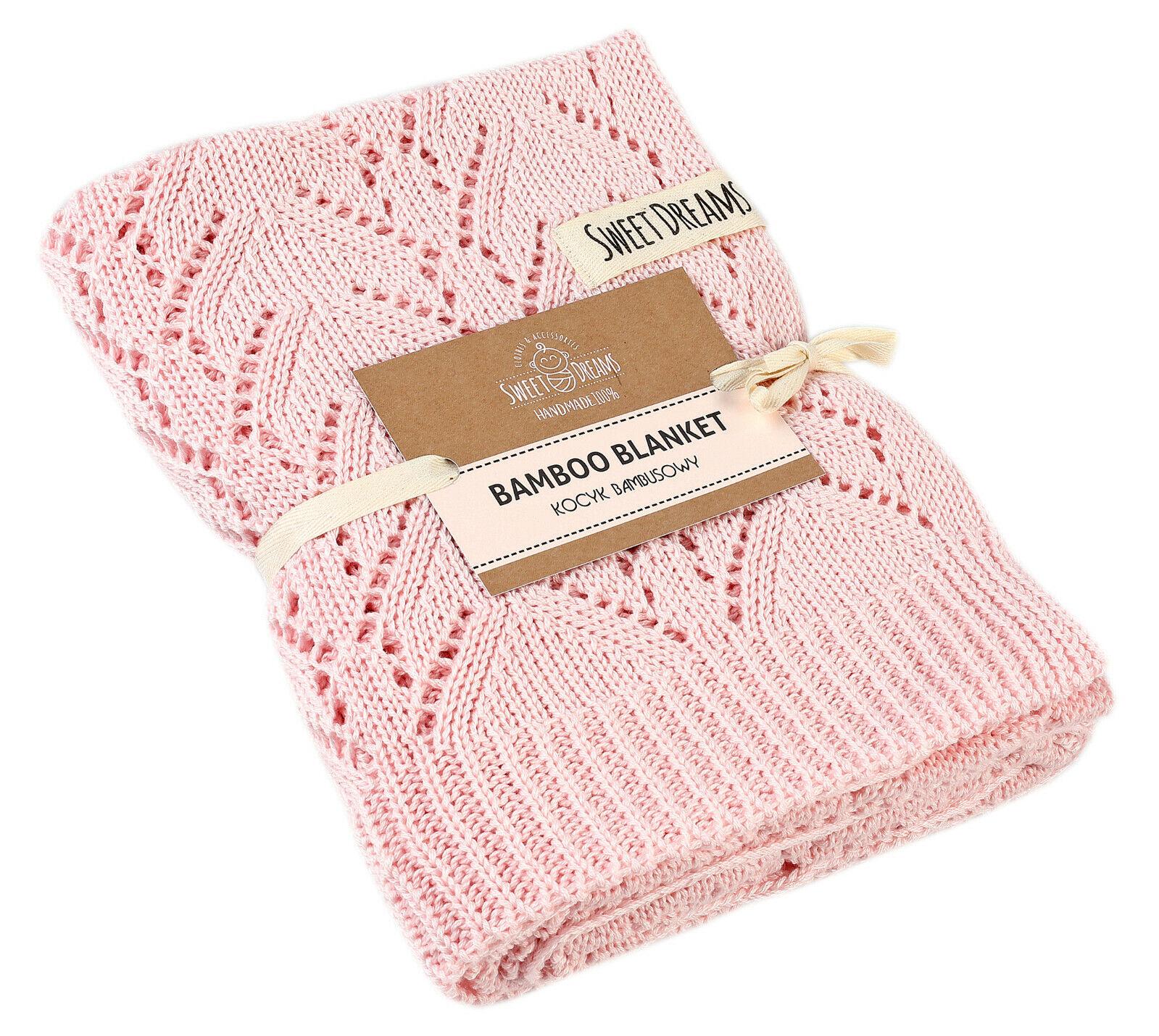 1016 SweetDreams Durchbrochene Decke Strickdecke für Babys und Kinder 80x100