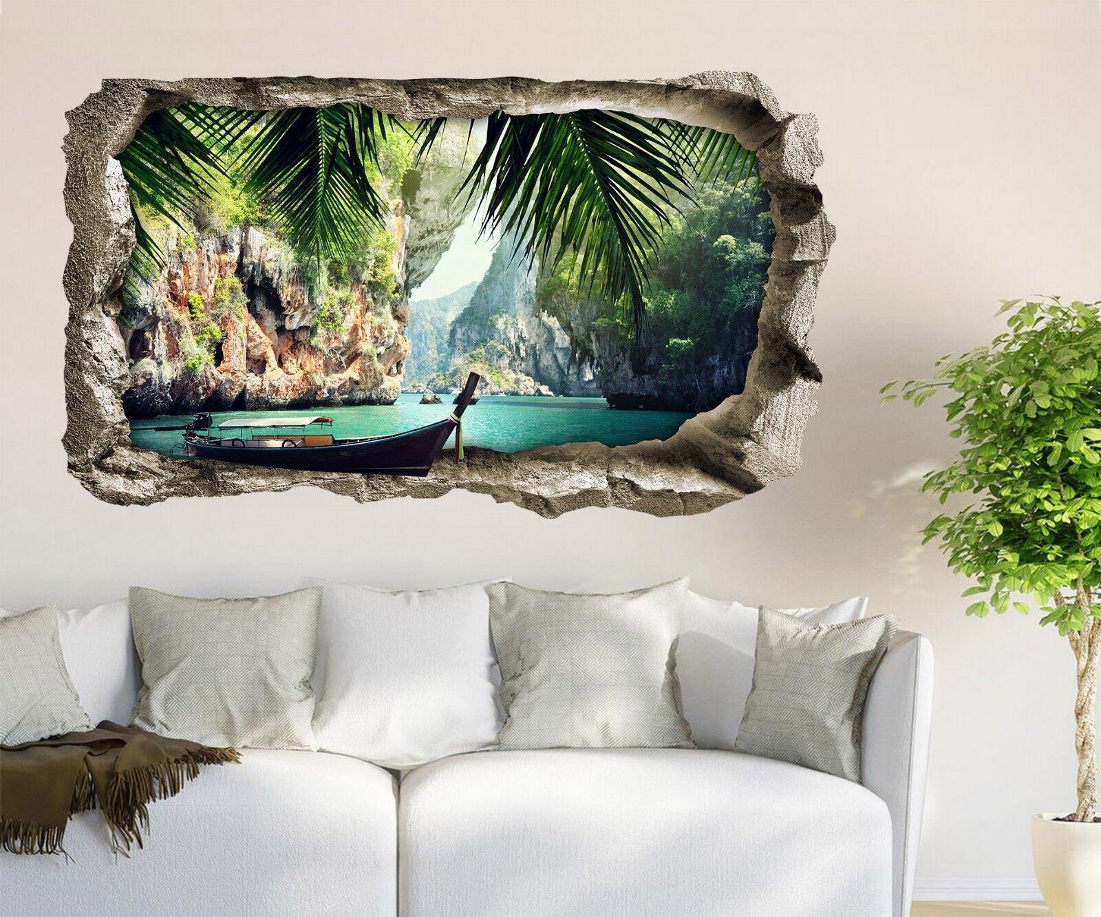 3D Meeresbucht 122 Mauer Murals Mauer Aufklebe Decal Durchbruch AJ WALLPAPER DE