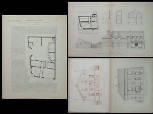 HAM SOMME, 35 RUE GENERAL FOY -1927- PLANCHES ARCHITECTURE-SAINT MAUR DES FOSSES - France - Période: XXme et contemporain - France