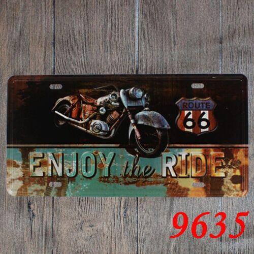 Metal Tin Sign enjoy the ride route 66 Pub Home Vintage Retro Poster Cafe ART